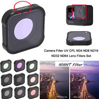 Camera Lens Filter UV CPL ND4 ND8 ND16 ND32 ND64 for GOPRO Hero9 Action Camera
