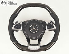 Echt Carbon Leder Lenkrad für Mercedes-Benz AMG W222 W217 W205 W218 W176 W117