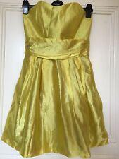 RIVER ISLAND YELLOW Satin Dress SIZE 12