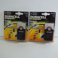 LOT OF 2X DURACELL RECHARGEABLE BATTERY POCKET CHARGER (S700)