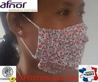 masque de protection en tissu barrière grand public alternatif AFNOR lavable