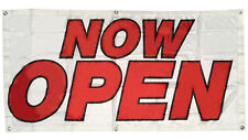 2x4 ft Now Open Banner Sign Store Grand Opening - Polyester Fabric wb