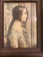 "Ludovicas Tornabuoni By Domenico Ghirlandaio Antique Print 12""x8.5"" & Framed"