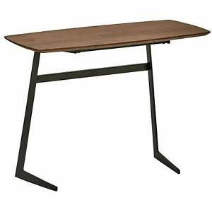 "Rivet Industrial Modern Wood and Metal Coffee Table, 31.5""W, Walnut CT-857"