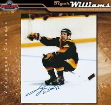Tiger Williams Vancouver Canucks Autographed 8 x 10 Photo - 70350
