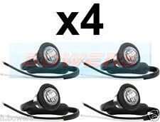4x 12V / 24V ANTERIORE BIANCO / chiaro SMALL ROUND LED pulsante Marcatore Lampada / Luci Universale