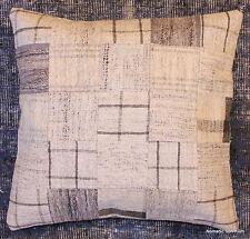 (50*50cm, 20inch) Genuine Turkish handwoven kilim cushion patchwork/whitecheck3