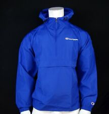 New Champion Men's Windbreaker Royal Blue Hoodie Water-Resistant Jacket RMHD-123