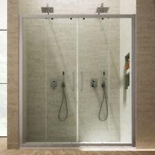 Box doccia nicchia 180 porta scorrevole cristallo trasparente ingresso centrale