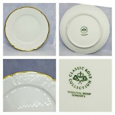 Classic Rose Collection Rosenthal Group Germany White Plate With Gold Trim