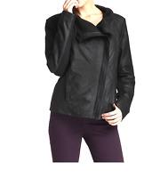 Elie Tahari 1300 Women's Black Virginia Genuine Leather Jacket Sz L