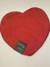 Nicole Miller Home Lace Red Placemats Set/4 NEW Valentine Wedding