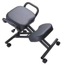 Ergonomic Kneeling Chair Adjustable Stool w/ Thick Seat Handle Casters Office
