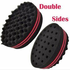 Black Double Sided Barber Hair Sponge Brush Dreads Coil Afro Curl Wave Tools