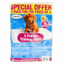 5 DOG CAT PUPPY LARGE TRAINING TRAINER PADS TOILET WEE 50 X 40 CM