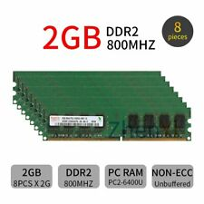 16GB (8x 2GB) / 1GB PC2-6400U DDR2 800MHz CL6 DIMM Desktop Memory For Hynix LOT