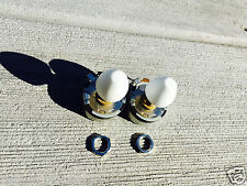 Two New Knurled Drive-In Speaker Volume Controls with White Knobs