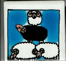 "Miriam Loretto,Ikon Decorative Tile,Magner,Piha New Zealand2.25"" square,Sheep"