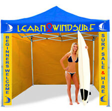 HEAVY DUTY COMMERCIAL TRADE GAZEBO SIGNS BRANDING DESIGN INCLUDED FAST DELIVERY