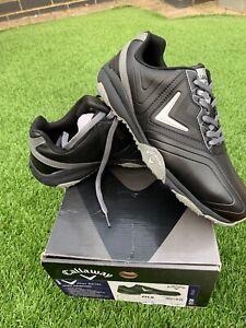 BNIB Callaway Chev Comfort Golf Shoes in Black Silver UK 6 US 7 EUR 39 / 99p !!!