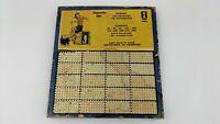 Vintage Penny Cigarette Girl Sale Bar Gambling Lotto 1000 Hole Punch Board