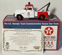 Matchbox 1955 Chevy 3100 Texaco Tem USA Olympic Tow Truck 1:43 NEW IN BOX w/COA