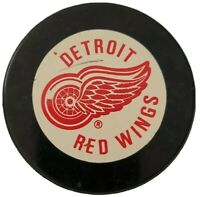 1980s DETROIT RED WINGS VINTAGE INGLASCO OFFICIAL HOCKEY PUCK NHL MADE IN 🇨🇦