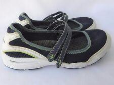 L.L.BEAN Women's Size 8 1/2 Wide Navy Mesh Mary Jane Slip On Velcro shoes EUC