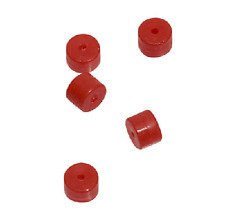 Omp Turbo Buttons 2.0 Red 5 Pack