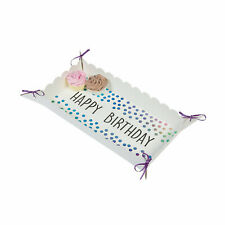 Iridescent Happy Birthday Food Trays - Party Supplies - 2 Pieces
