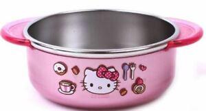 Hello Kitty Cute Kids Non Slip Stainless Bowl Babyfood Food Bowl 11.8oz 350ml