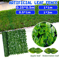 2PCS Artificial Green Outdoor Faux Plant Leaf Privacy Screen Fence Garden Yard