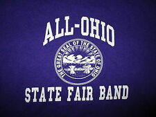 ALL OHIO STATE FAIR BAND T SHIRT Seal Marching Music Musician Purple Small