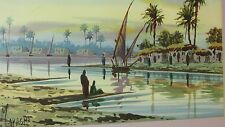 BEAUTIFUL HAND PAINTED WATER COLOR BY EGYPITIAN ARTIST M.OKASHA