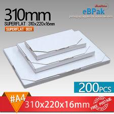 200x SuperFlat Mailing Box #A4 310x220x16mm - A4 size Rigid Envelope Mailer