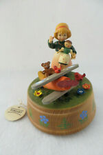 """Vintage Anri Musical - Girl With Toys - """"Gonna Fly Now"""""""