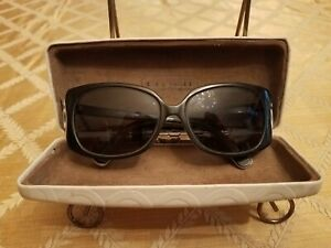 Calvin Klein Sunglasses CK4091S 313 130 Black/ White w/Coach Hardshell Case