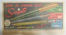 Scripto Pens & Pencils Ad: Back To School with Scripto 1940's Size: 7 x 15 in