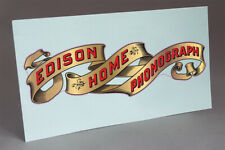 PRE CUT EARLY EDISON HOME BANNER WATER SLIDE DECAL FOR PHONOGRAPH RESTORATION