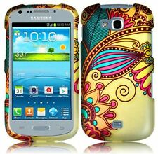 Samsung Galaxy Axiom R830 Rubberized HARD Protector Case Cover Antique Flower