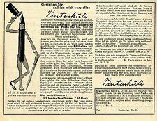 Ohlendorf Hamburg GESTATTEN: TINTENKULI  Historische Reklame von 1929