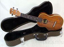 Alulu solid mahogany soprano ukulele, laser hawaiian girl pattern UMS05