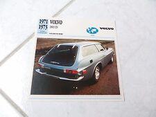 Volvo 1800 ES Fiche carte catalogue brochure dépliant prospekt catalog