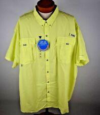 Columbia PFG Mens Bahama II Short Sleeve Shirt FS7047-797 Size 5X Yellow Fishing