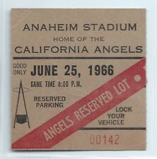 Frank Robinson 2 hits, parking ticket stub; Orioles at Angels 6/25/1966