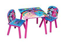 My Little Pony Wooden Table Chairs Indoor Childrens Kids Playroom Furniture Set