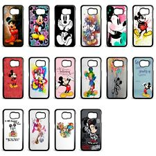 Disney Mickey Mouse Colourful Hard Case Cover for Samsung S6 S7 S8 S9 plus edge