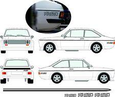 Ford Escort MK2 RS2000 SPORT STICKERS STRIPE KIT DECALS VINYLS