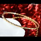 18K 18CT YELLOW GOLD FILLED SLIP ON BANGLE LADY WOMENS BRACELET SLIM