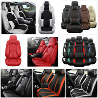 Car 5-Seats Seat Covers PU Leather Universal for Honda Civic/Toyota/Lexus/BMW US